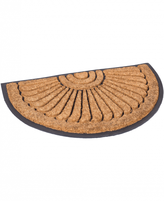 BirdRock Home 18 x 30 Half Round Natural Coir and Rubber Doormat